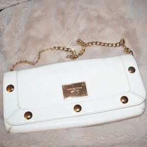MICHAEL Michael Kors Monogram White Clutch